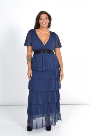 Φόρεμα Μάξι με Τούλινα Βολάν