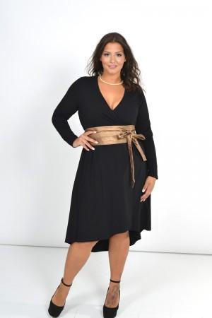 Φόρεμα Μίντι Κρουαζε με Δέσιμο