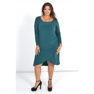 Φόρεμα Μίντι Ασύμμετρο με Κρουαζέ