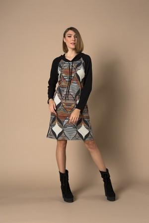 Φόρεμα Μίντι Καρώ Λούρεξ