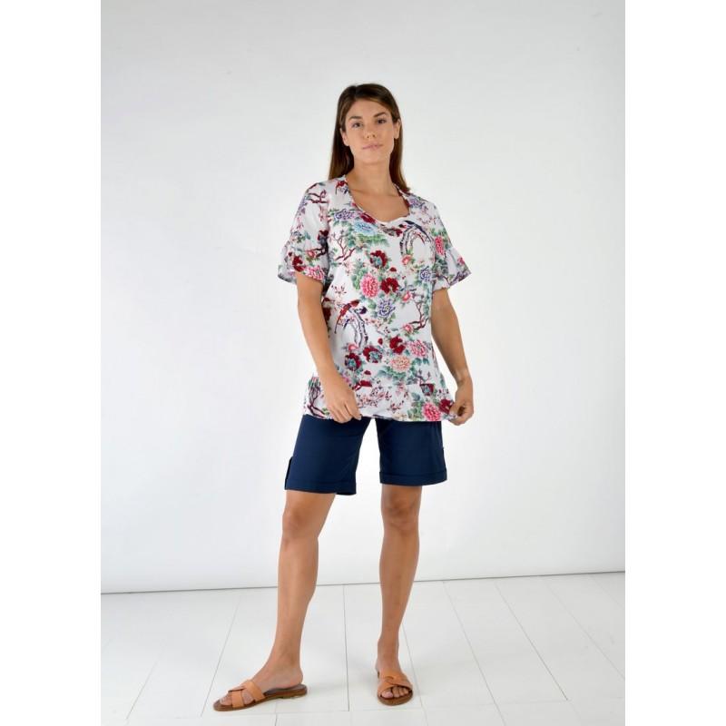 Fuego Fashion - Πουκαμίσα Εμπριμέ Πουκαμίσα - Πουκάμισα xxl