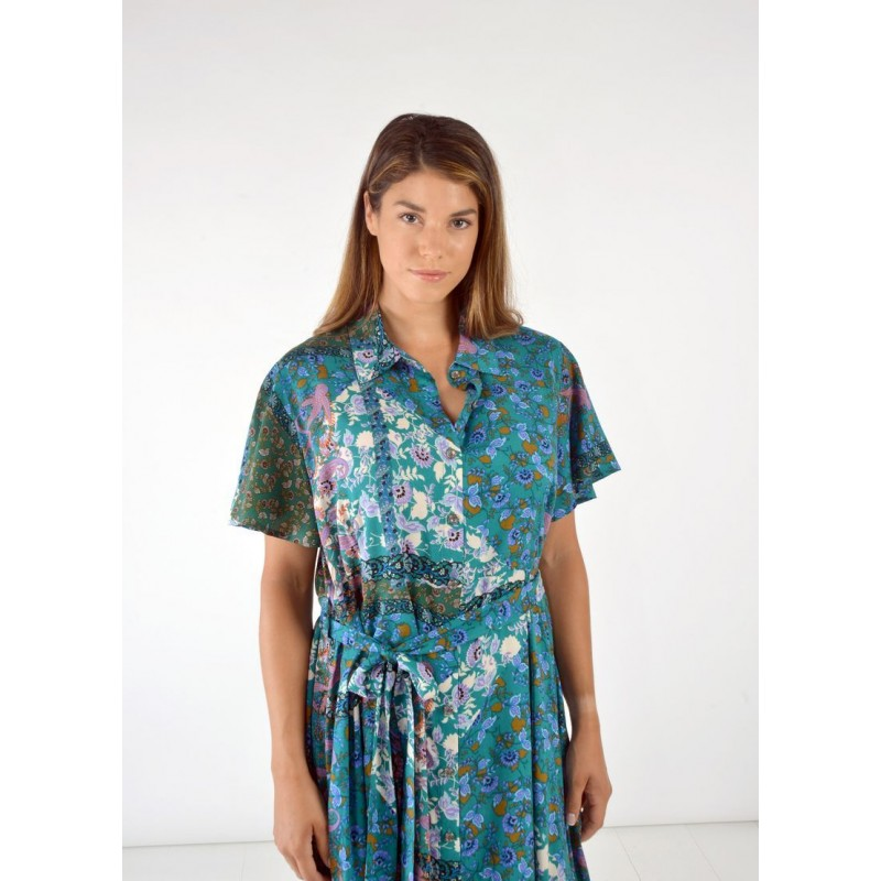 Φόρεμα Κουμπωτό Εμπριμέ Φορέματα xxl