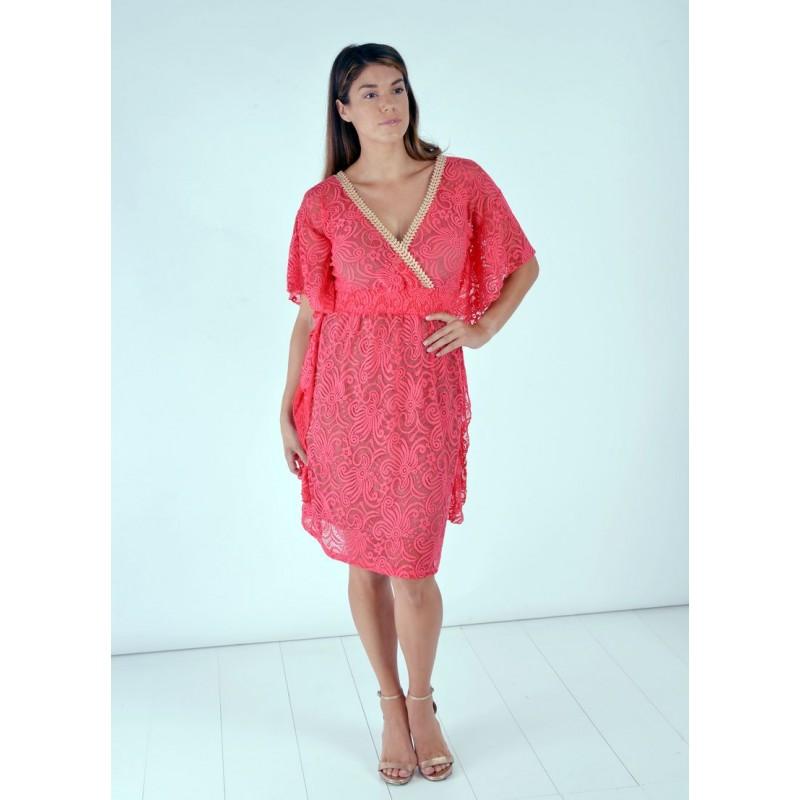 Φόρεμα Καφτάνι Δαντέλα Φορέματα xxl
