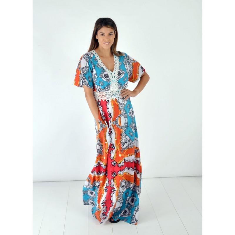Οικονομικα Βραδινα Φορεματα - Φορεματα xxl - Φορεματα Φορεματα - Fuego Fashion - Φόρεμα Εμπριμέ Φορέματα xxl