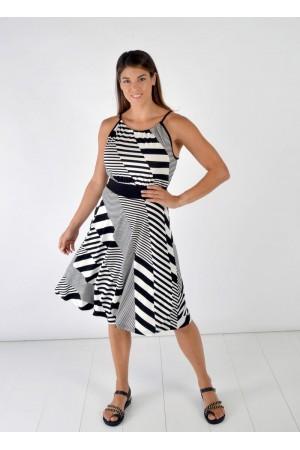 Φόρεμα Ασπρόμαυρο