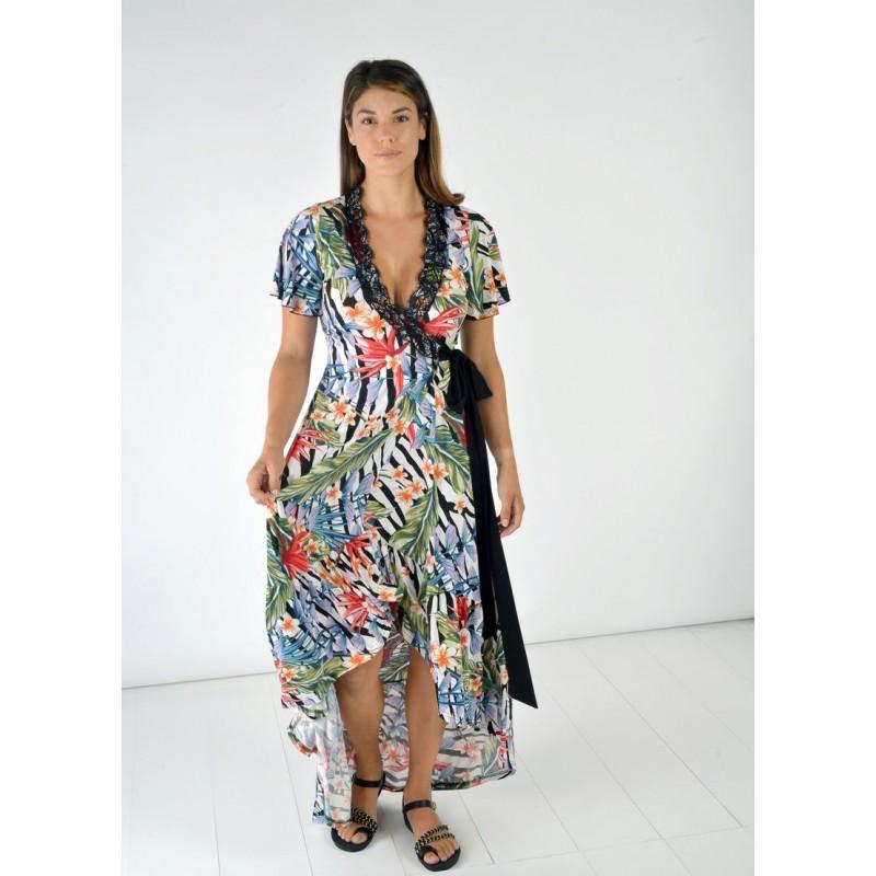 Φόρεμα Ασύμμετρο Κρουαζέ Φορέματα xxl