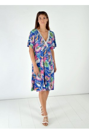 Φόρεμα Κρουαζέ με Παγέτα Στο V