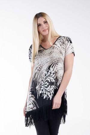 Μπλούζα-Φόρεμα με Κρόσια