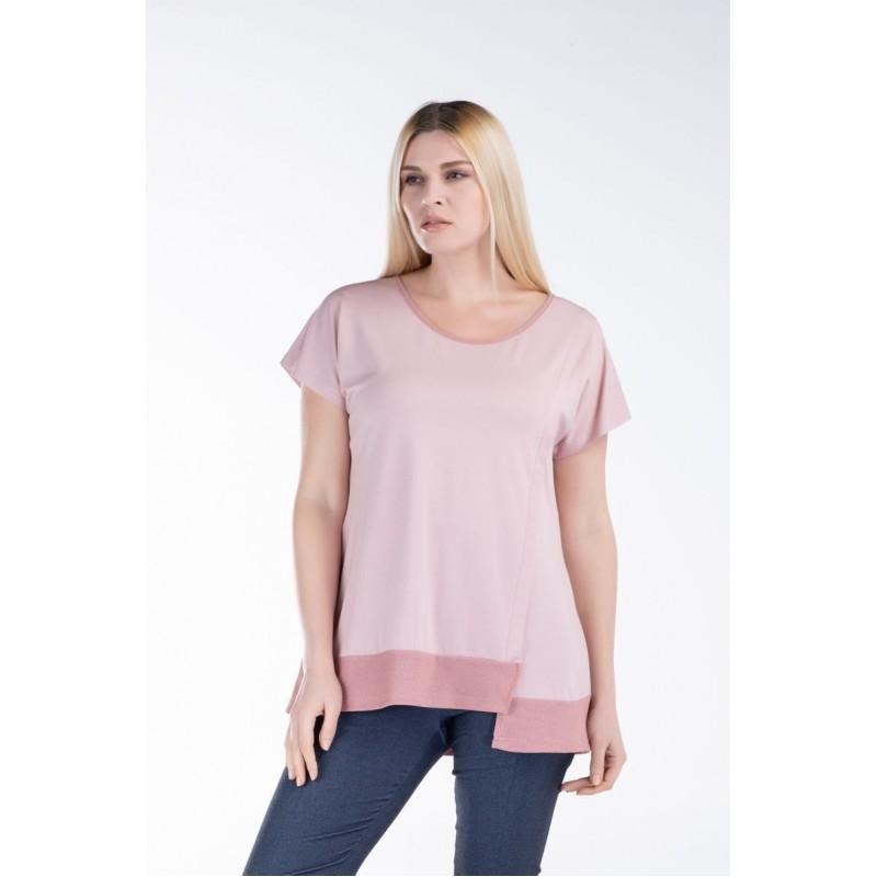 Μοντερνα plus size ρουχα - Μπλούζα με Λούρεξ Φάσα Μπλούζες xxl