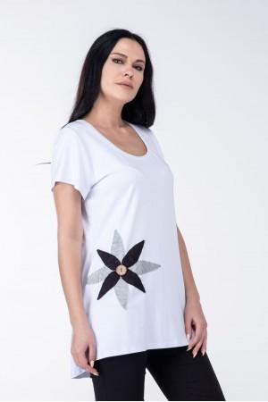 Μπλούζα με Μοτίφ Λουλούδι