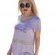 Μοντερνα plus size ρουχα - Μπλούζα με Στάμπα Moment Μπλούζες xxl