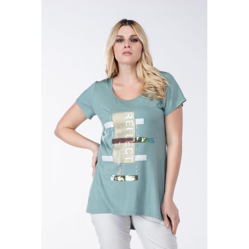 Μπλούζα με Χιαστή Πλάτη Μπλούζες xxl
