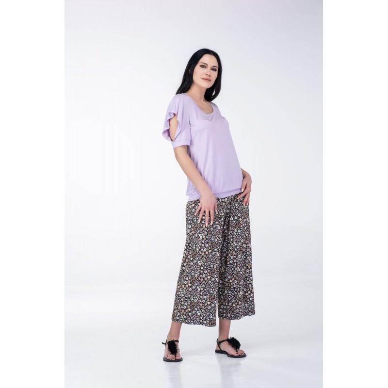 Μπλουζες xxl - Μπλουζες - Fuego Fashion - Μπλούζα με Σχέδιο στο Μανίκι Μπλούζες xxl