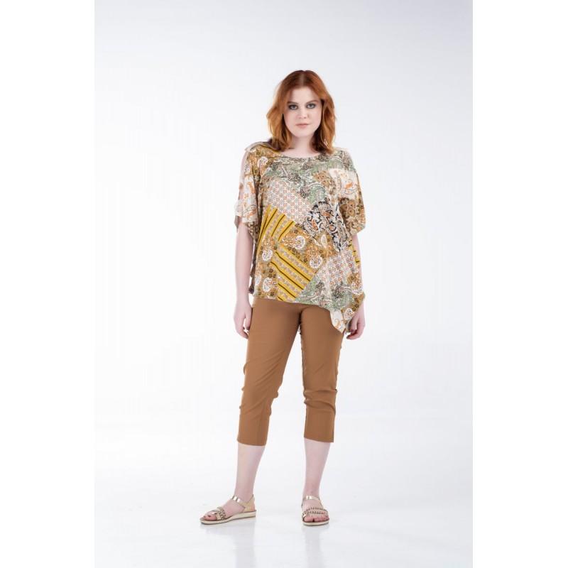 Fuego Fashion - Παντελόνι-Κολάν Κάπρι Γκρο    Παντελόνια xxl