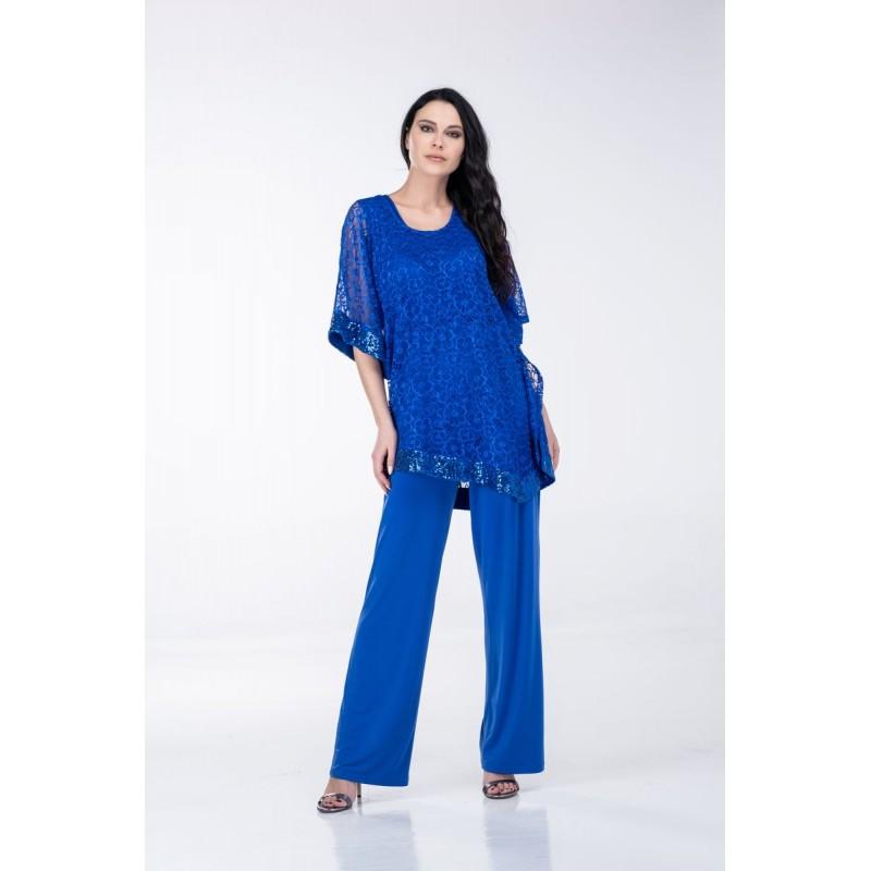 Μοντερνα plus size ρουχα - Ολόσωμη Φόρμα Δαντέλα Παγιέτα Ολόσωμες Φόρμες xxl