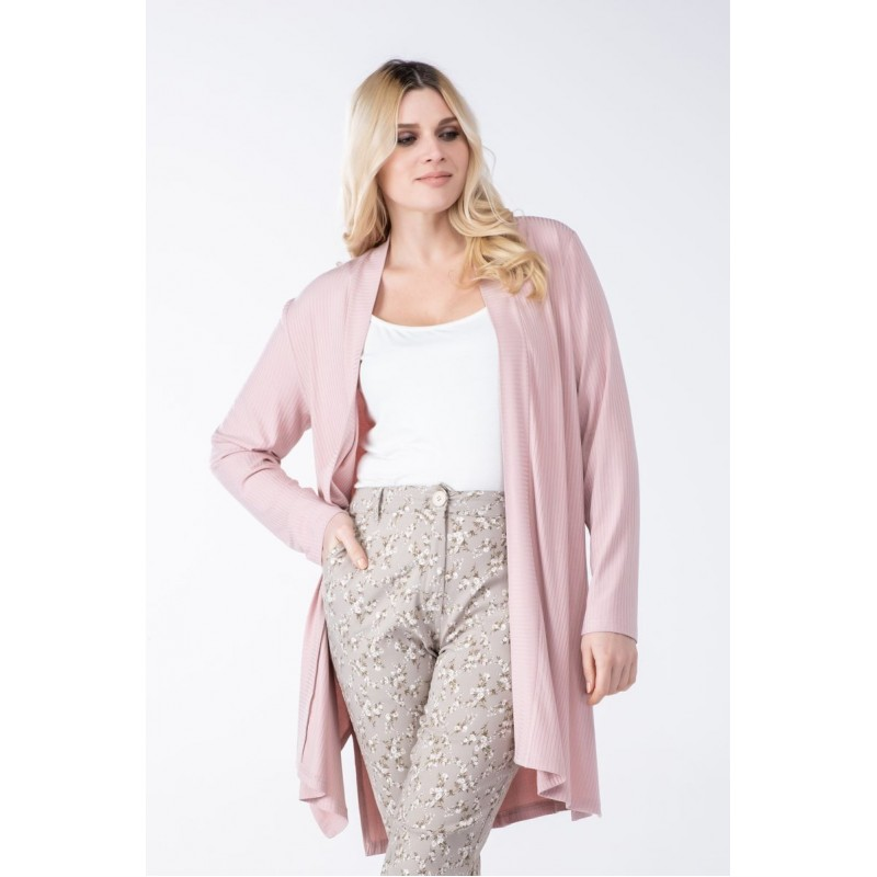 Μοντερνα plus size ρουχα - Fuego Fashion - Ζακέτα RIB Ζακέτες xxl