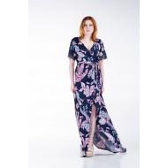Φόρεμα Κρουαζέ Δαντέλα στα Μανίκια