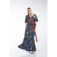 Φόρεμα Κρουαζέ με Φάσες