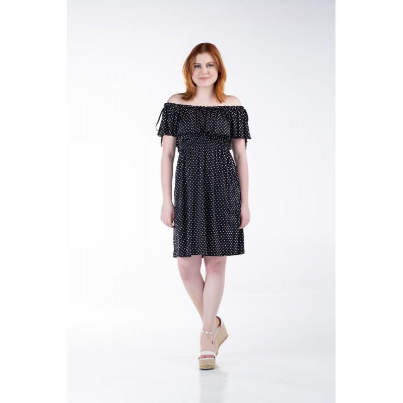 Οικονομικα Βραδινα Φορεματα - Φορεματα xxl - Φορεματα Φορεματα - Fuego Fashion - Φόρεμα Κοντό με Λάστιχο Φορέματα xxl