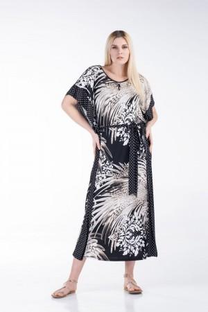 Φόρεμα Εμπριμέ με Πουά Φάσες