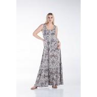 Φόρεμα Αμάνικο με Τρέσα