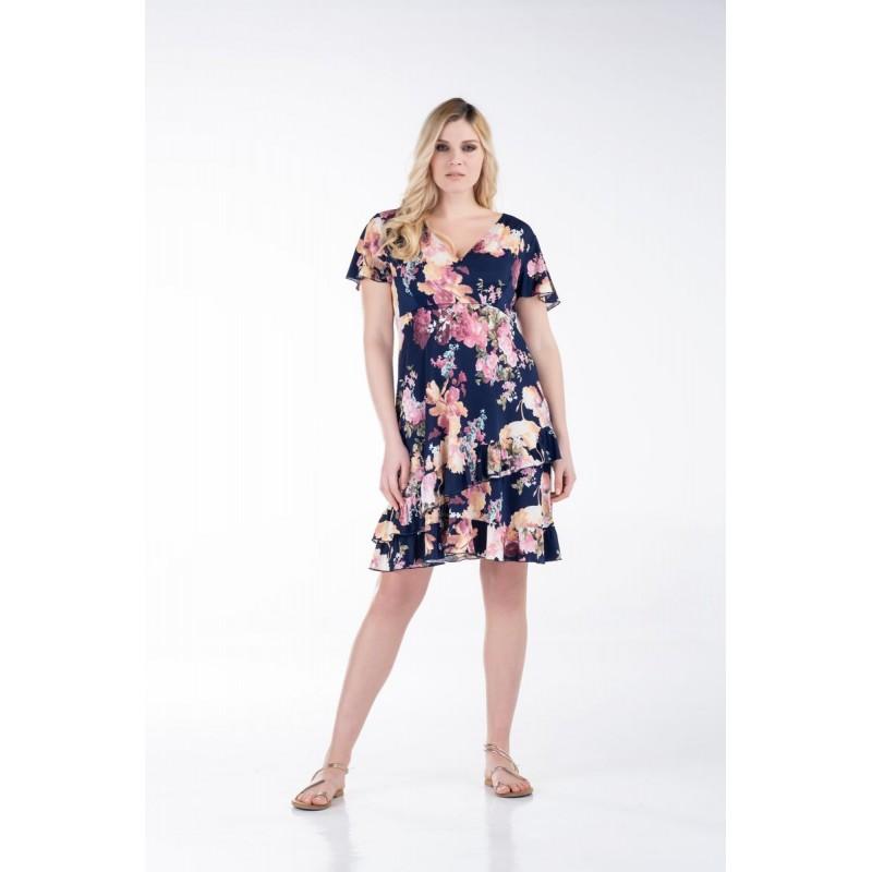 Οικονομικα Βραδινα Φορεματα - Φορεματα xxl - Φορεματα Φορεματα - Fuego Fashion - Φόρεμα Κρουαζέ Κοντό Φορέματα xxl