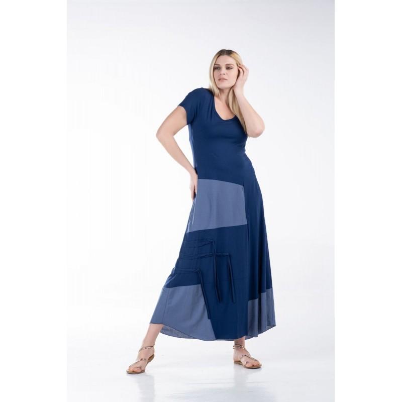 Οικονομικα Βραδινα Φορεματα - Φόρεμα με Λούρεξ και Ρέλια Φορέματα xxl