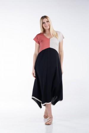 Φόρεμα Τρίχρωμο