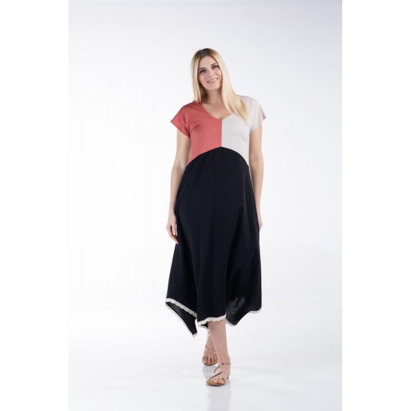 Φόρεμα Τρίχρωμο  Φορέματα xxl