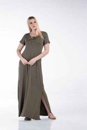 Φόρεμα Βισκόζη με Τρέσα