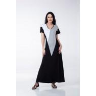 Φόρεμα Μακρύ Τρίχρωμο