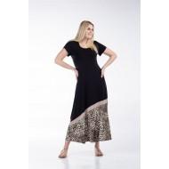 Φόρεμα Μακρύ με Φάσα Άνιμαλ