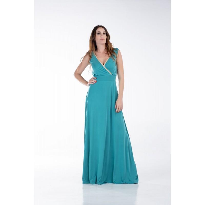 Φόρεμα Σούπερ Ζέρσεΐ με Τρέσα Φορέματα xxl