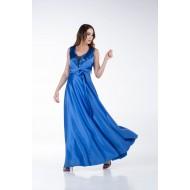Φόρεμα Σατέν με Παγιέτα στο Μπούστο