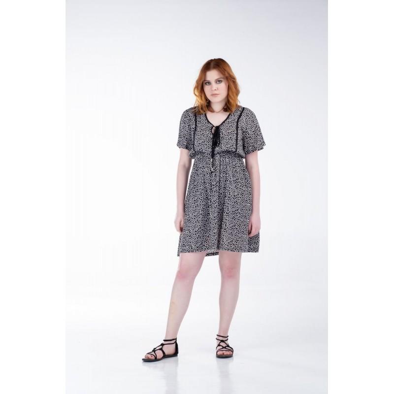 Οικονομικα Βραδινα Φορεματα - Φορεματα xxl - Φορεματα Φορεματα - Fuego Fashion - Φόρεμα με Μονόχρωμα Ρέλια  Φορέματα xxl