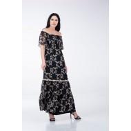 Φόρεμα Μακρύ με Λάστιχο