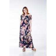 Φόρεμα Φλοράλ με Λάστιχο