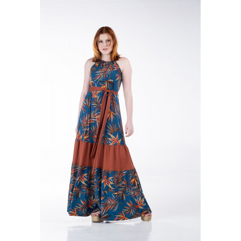 Οικονομικα Βραδινα Φορεματα - Φόρεμα Ραντάκι με Φάσα και Ζώνη Φορέματα xxl