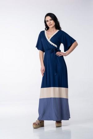 Φόρεμα Κρουαζέ Τρίχρωμο