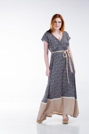 Φόρεμα Κρουαζέ με Φάσα και Δαντέλα