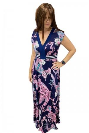 Φόρεμα Επιριμέ με Φάσα και Λούρεξ