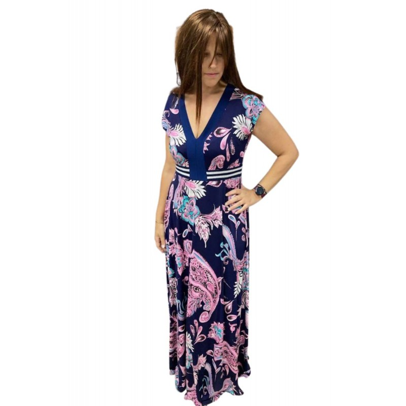 Οικονομικα Βραδινα Φορεματα - Φόρεμα Επιριμέ με Φάσα και Λούρεξ Φορέματα xxl