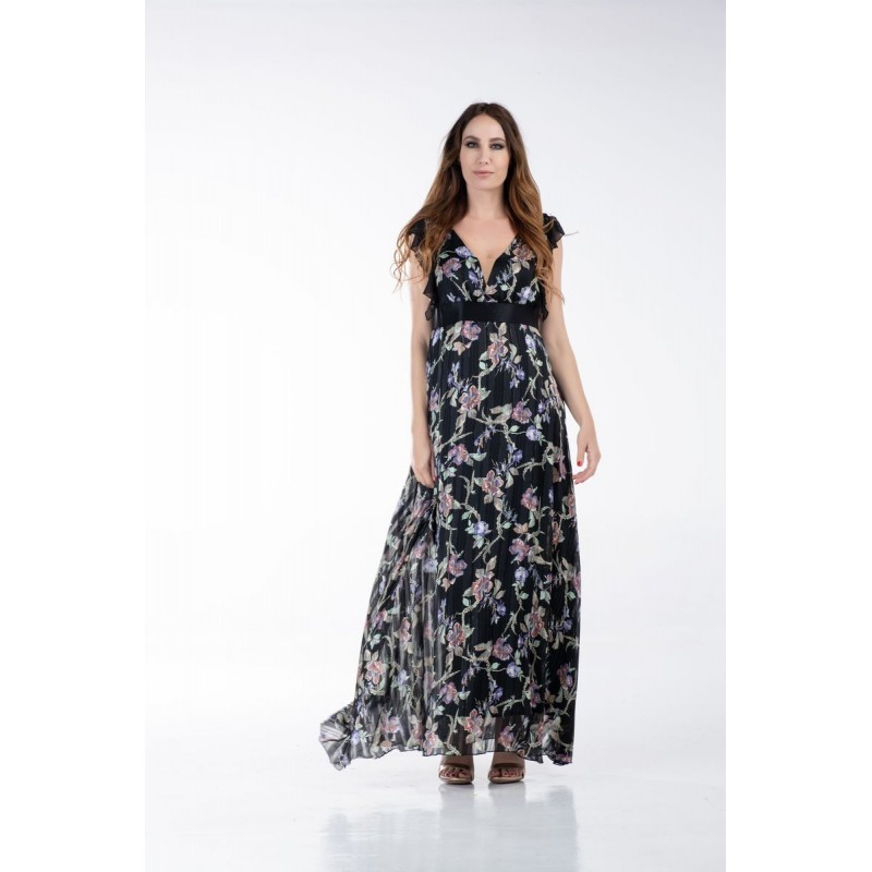 Φόρεμα Εμπριμέ με Βολάν στους Ώμους Φορέματα xxl