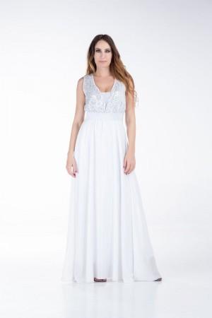 Φόρεμα Μουσελίνα Παγιέτα