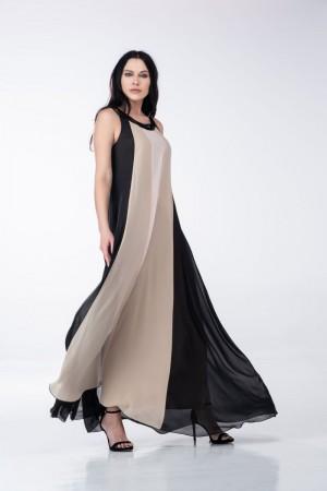 Φόρεμα Τρίχρωμο Μουσελίνα