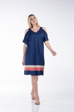 Φόρεμα Ανοιχτούς Ώμους και Φάσες