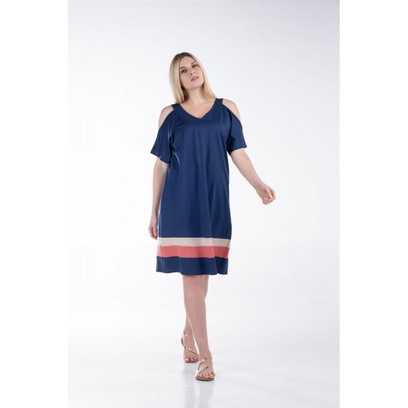 Φόρεμα Ανοιχτούς Ώμους και Φάσες Φορέματα xxl