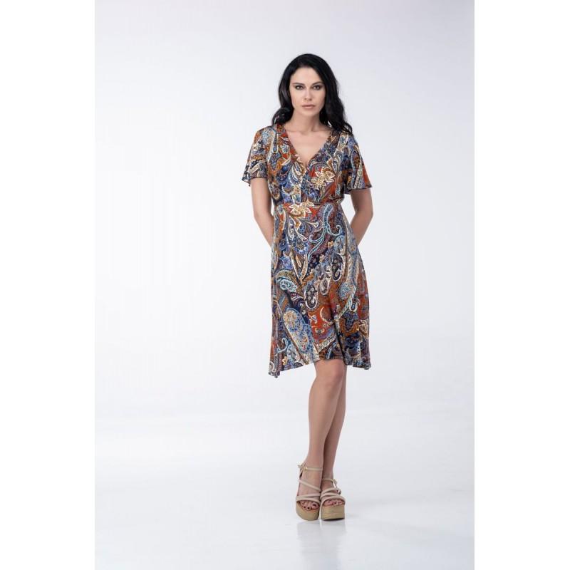 Οικονομικα Βραδινα Φορεματα - Φορεματα xxl - Φορεματα Φορεματα - Fuego Fashion - Φόρεμα Κοντό Κρουαζέ Φορέματα xxl