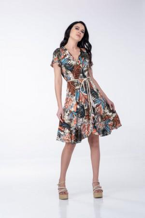 Φόρεμα με Κρουαζέ με Ζώνη