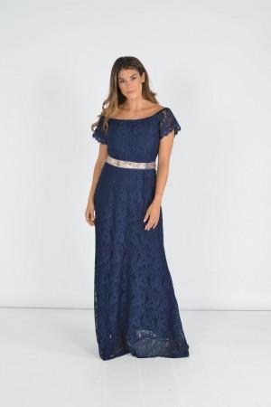 Φόρεμα Γοργονέ με Ζώνη